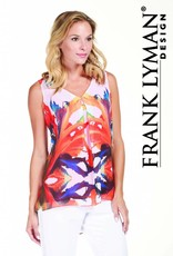 Frank Lyman Orange/Royal/Multi Top 181427