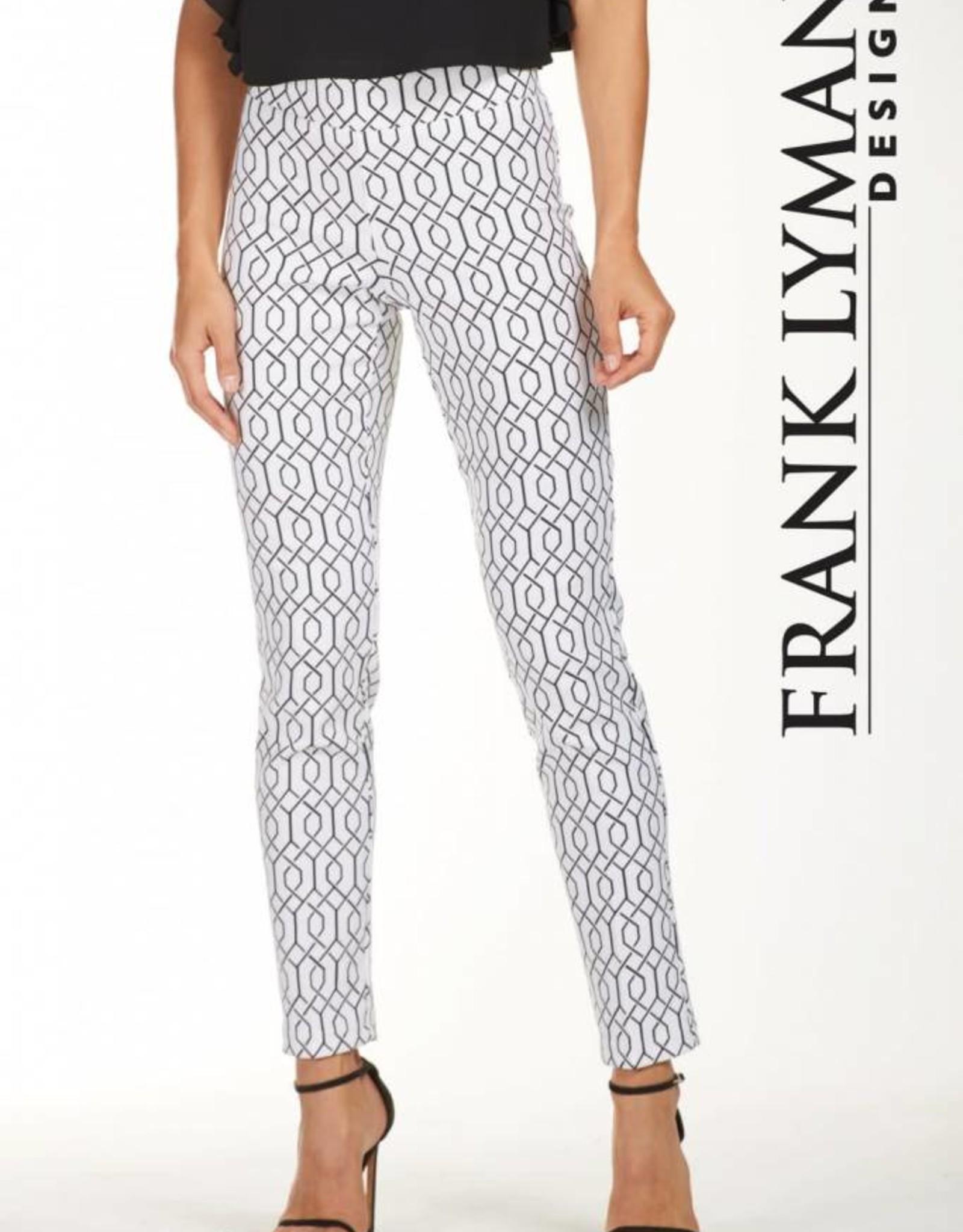 Frank Lyman Off-White Pattern Pant 181760