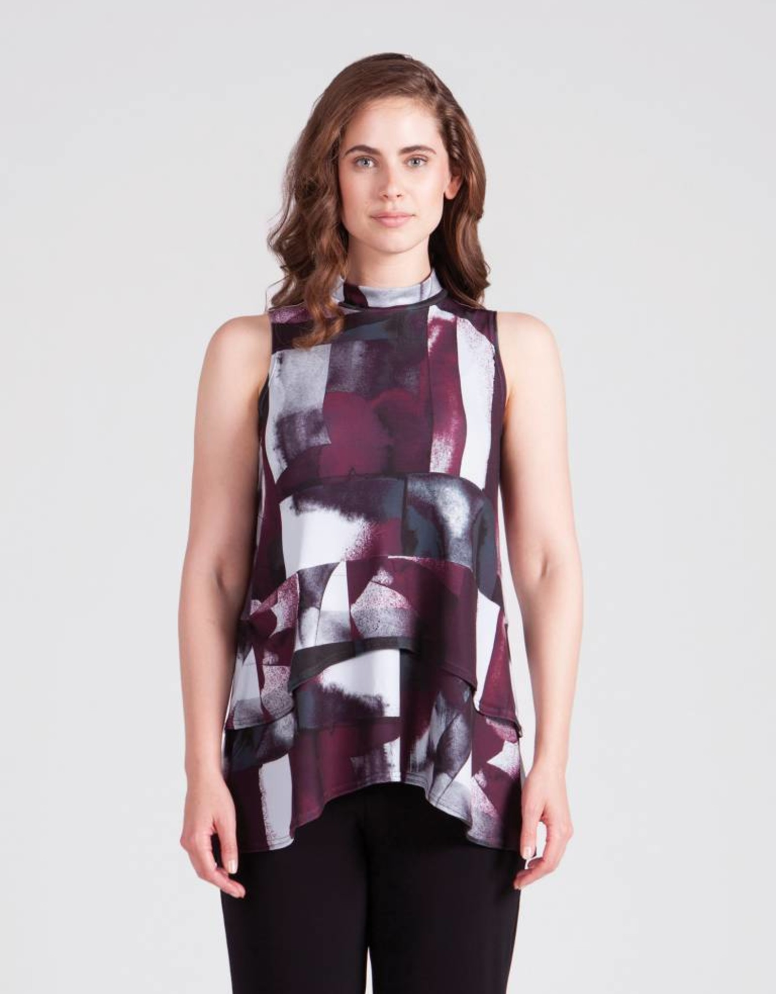 Sympli Sleeveless Waterfall Top 21153