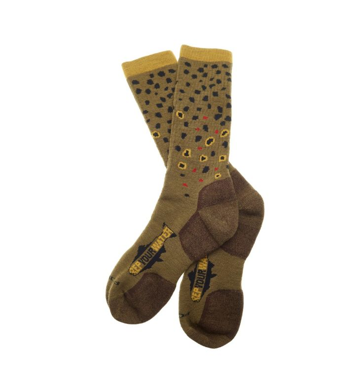 Rep Your Water Brown Trout Socks XL