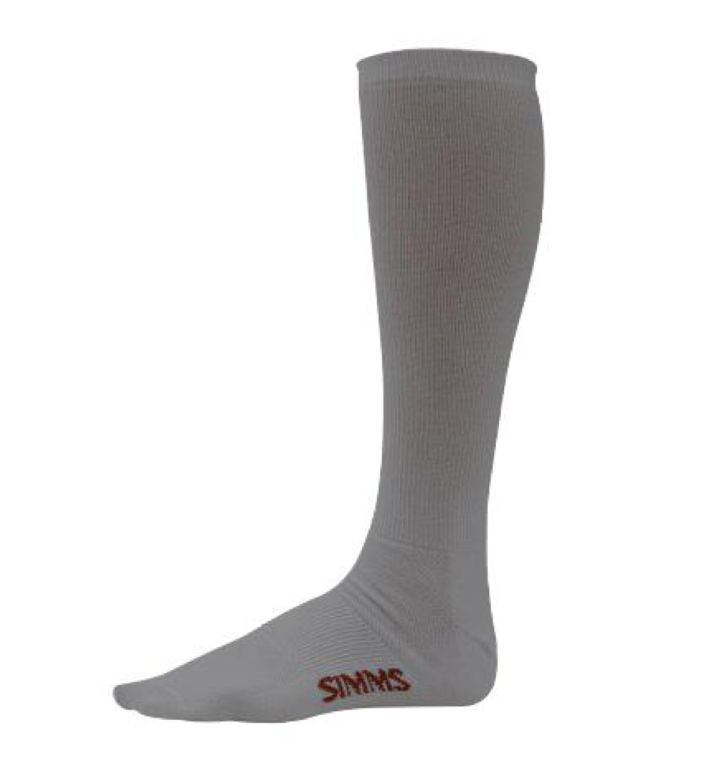 Simms Liner Sock Ash Grey XL