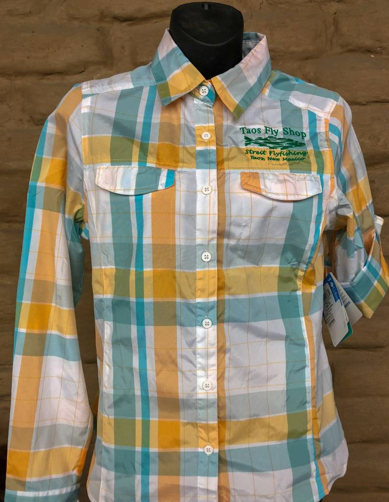 Columbia Silver Ridge Plaid Logo Women's Fishing Shirts
