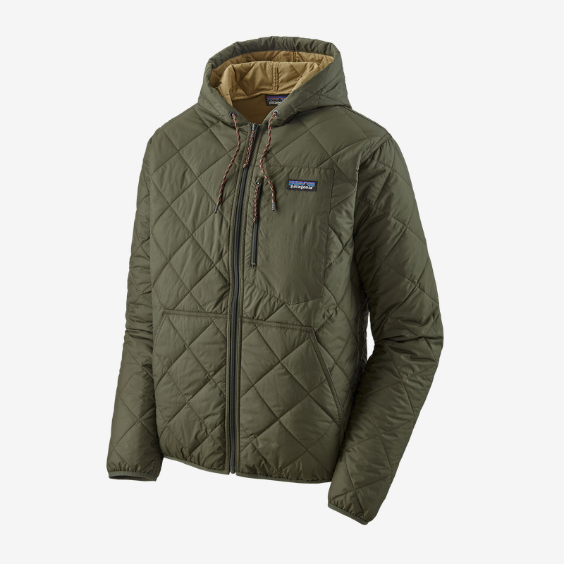 M S Diamond Quilted Bomber Hoody Taos Fly Shop