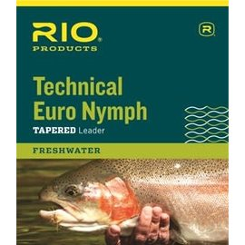 Technical Euro Nymph Leader 14ft black/white 2x/4x