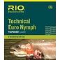 Technical Euro Nymph Leader 14ft black/white 2x/4x