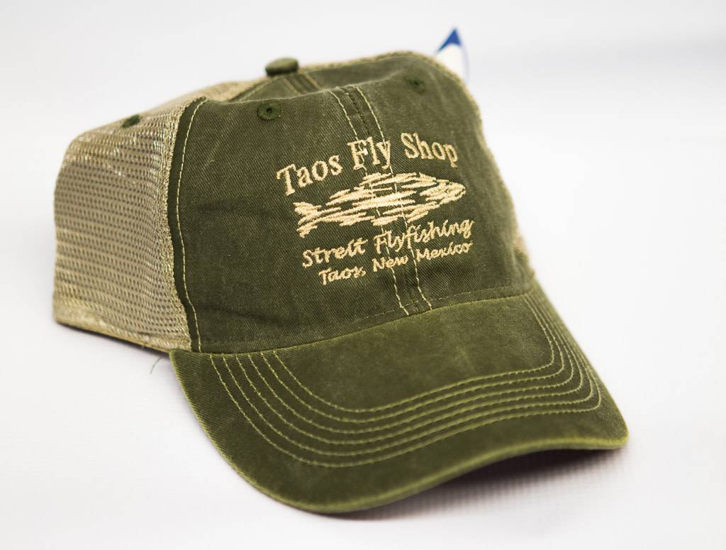 Taos Fly Shop Shadow Fish Logo Trucker Hat