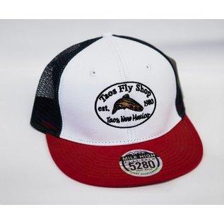 Taos Fly Shop Retro Logo Trucker Hat
