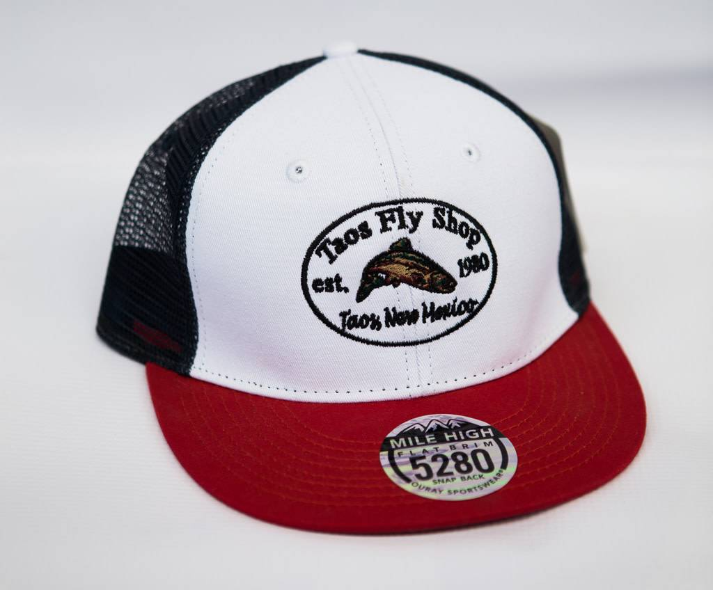 Taos Fly Shop Retro Logo Trucker Hat