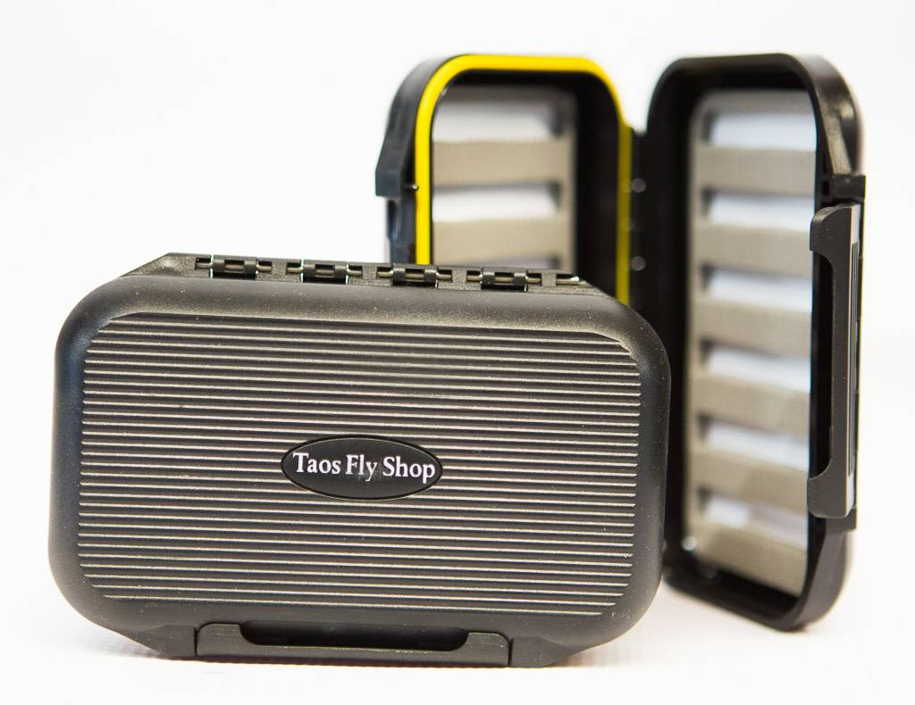 Black Two-Sided Taos Fly Shop Fly Box