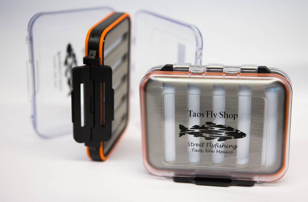 Orange Waterproof Taos Fly Shop Fly Box