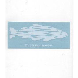 Taos Fly Shop Decal Sticker White