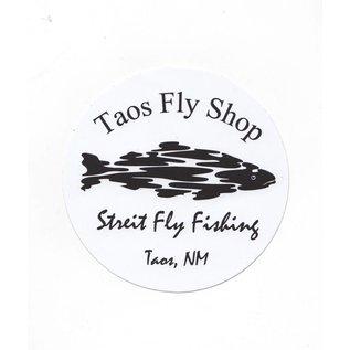 Round Taos Fly Shop Sticker