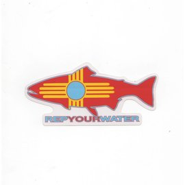 New Mexico Rep Your Water Sticker