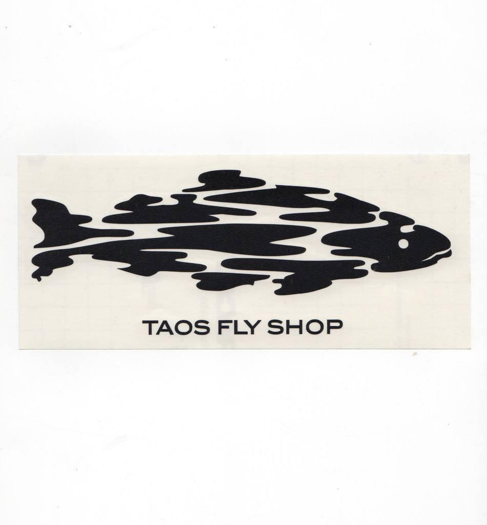 Taos Fly Shop Decal Sticker Black