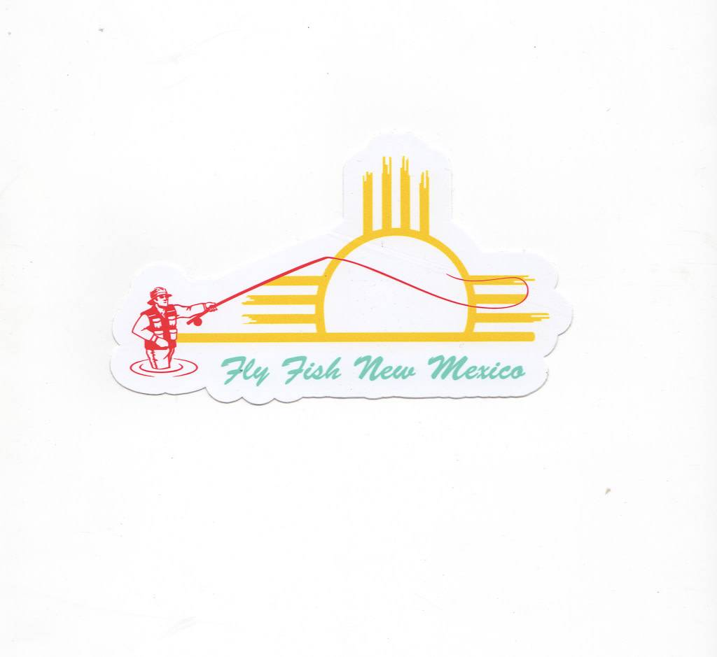 Fly Fish New Mexico Sticker