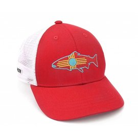 Rep Your Water NM Fish Hat Red