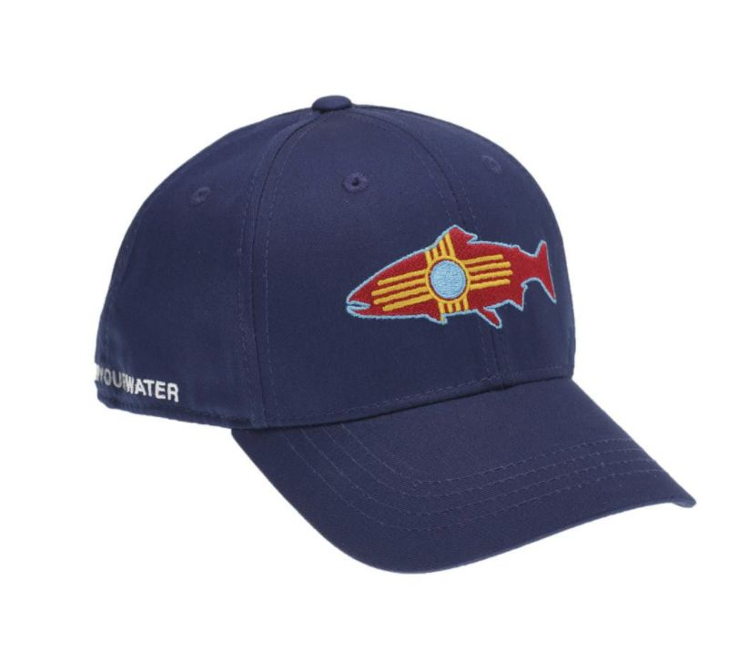 Rep Your Water NM Fish Hat Blue