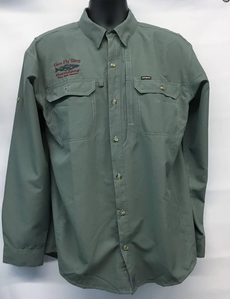 061f93e3 M's Patagonia Sol Patrol L/S TFS Logo Shirt - Taos Fly Shop