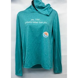 """Yes I Fish"" Women's Sun Hoody"