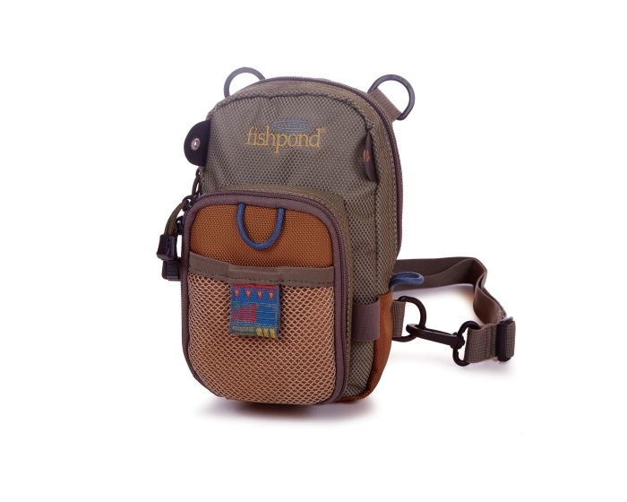 FISHPOND SAN JUAN VERTICLE CHEST PACK--SAND/SADDLE BROWN