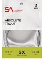 SCIENTIFIC ANGLERS SA ABSOLUTE TROUT 3 PACK LEADERS