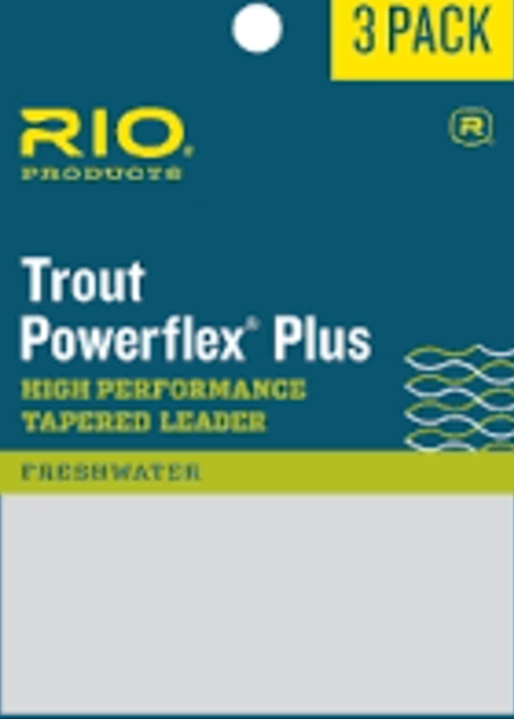 RIO RIO POWERFLEX PLUS LEADER 3 PACK - 7.5FT