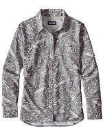 PATAGONIA Women's Long Sleeved Sol Patrol Shirt Fish Slashed: Tailored Grey Large
