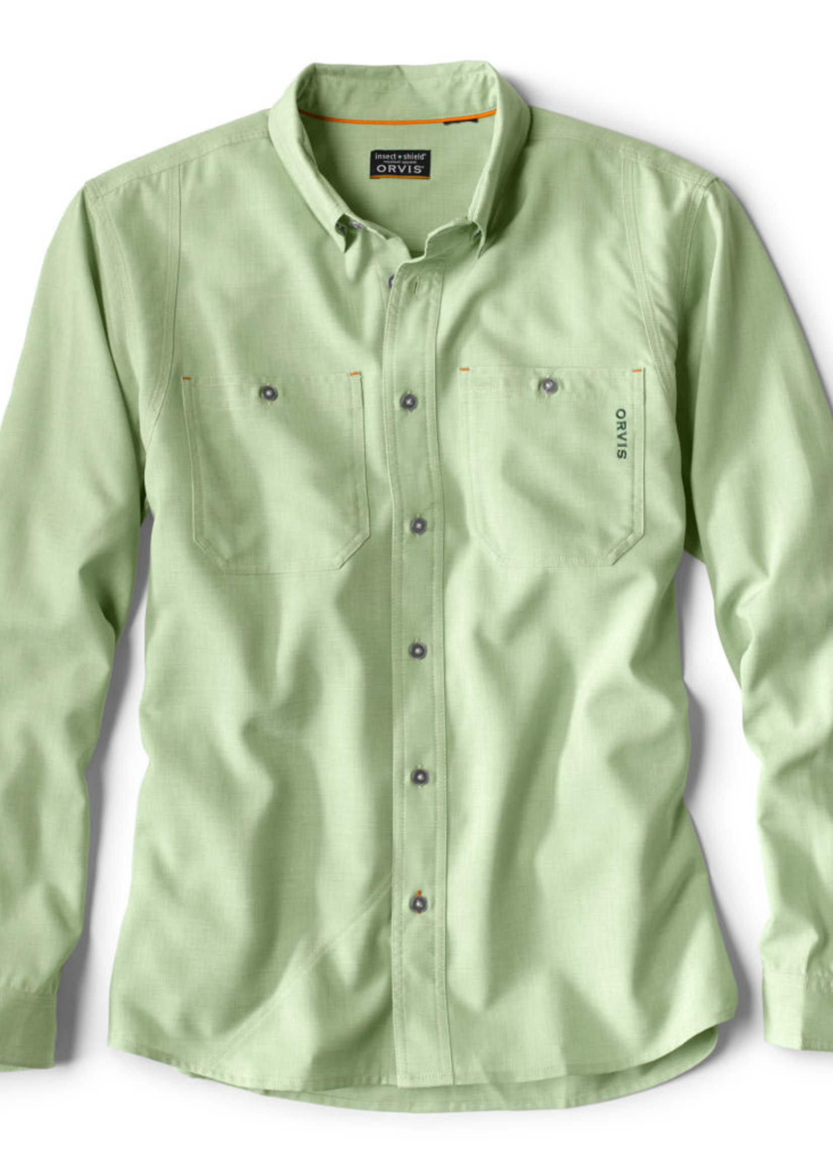 ORVIS OUTSMART TECH CHAMBRAY LS SHIRT