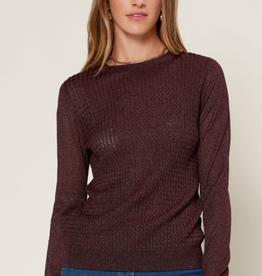 AAAAA Fashion Lurex Knit Sweater
