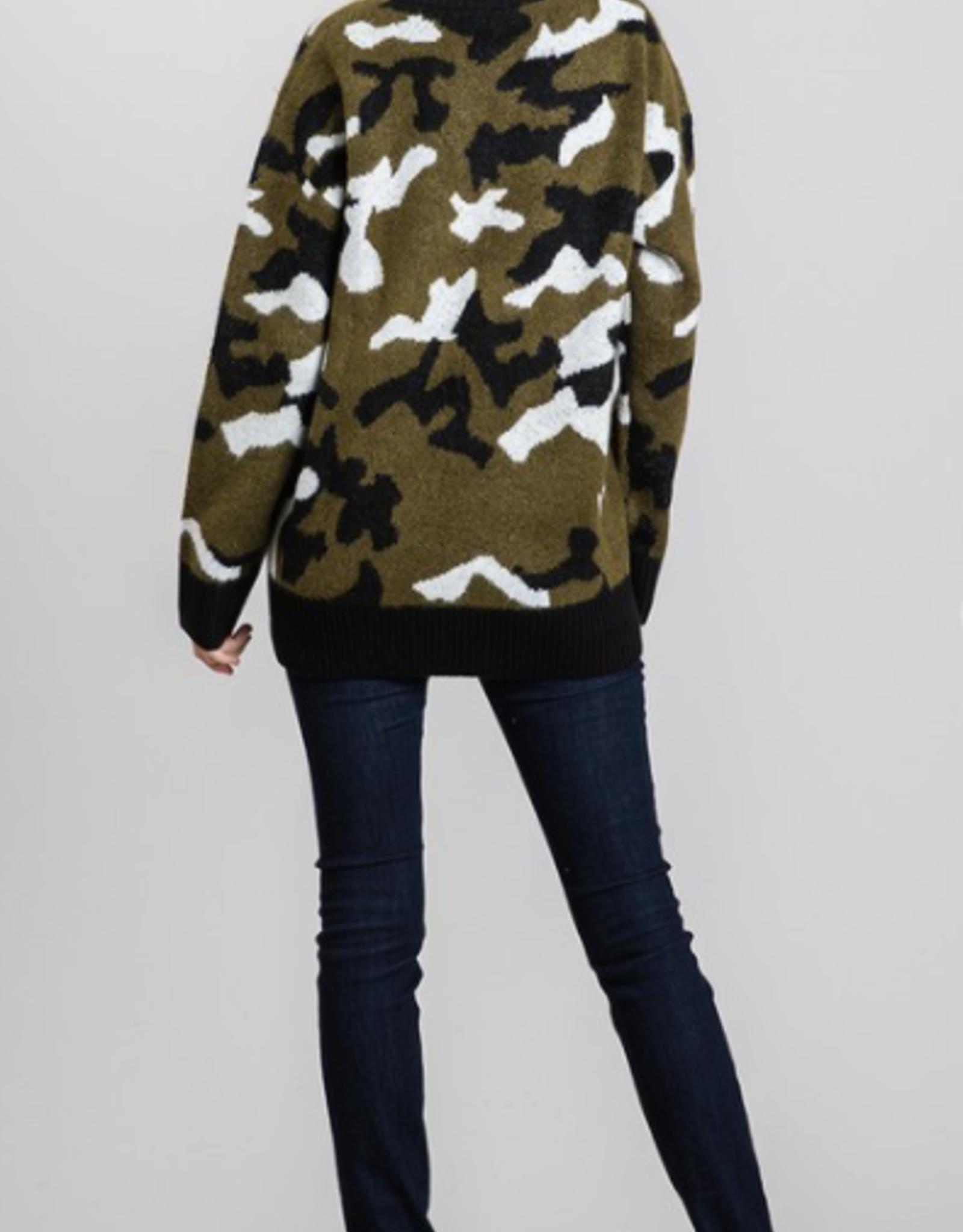 Madison Camo Sweater
