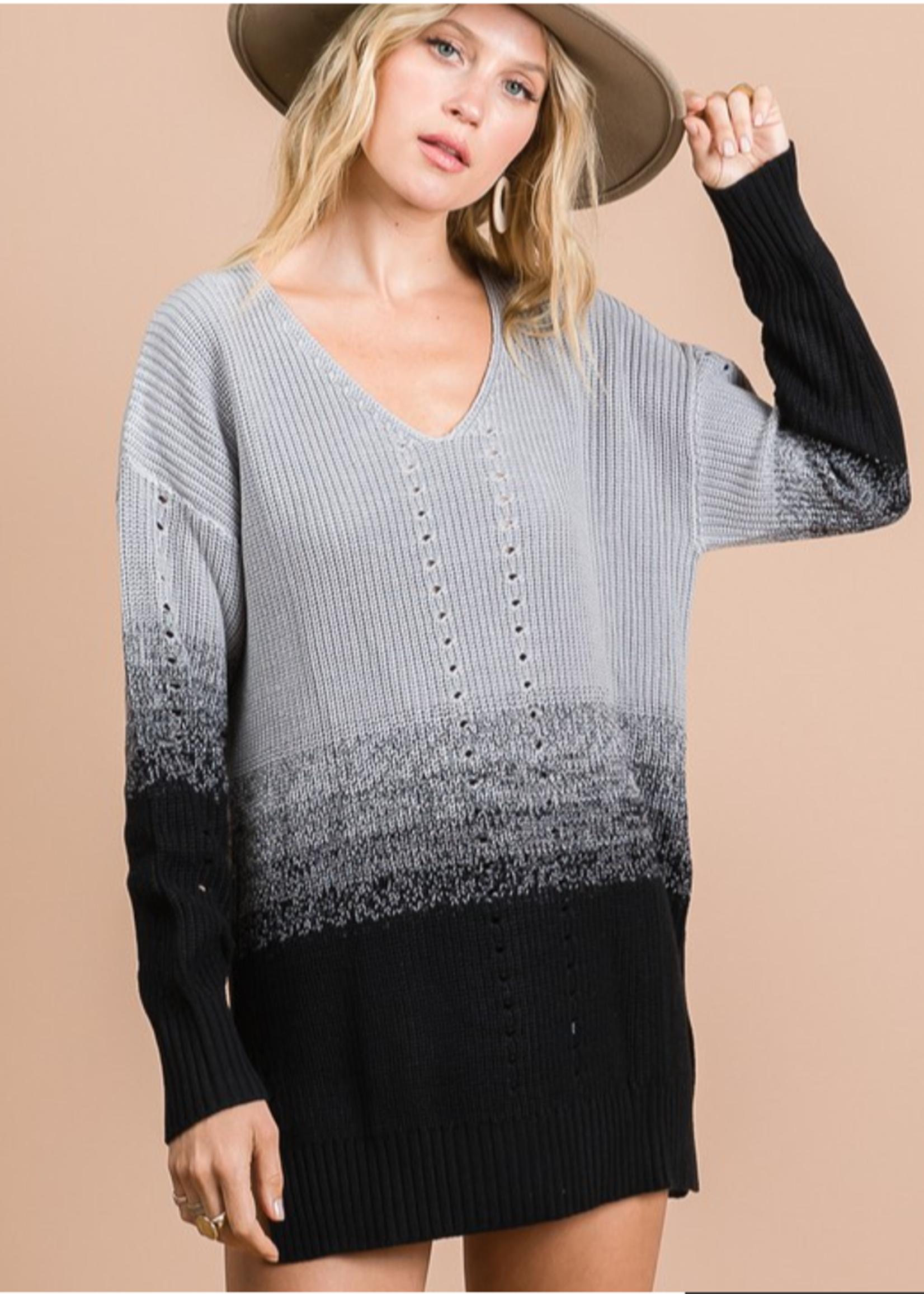 Madison Two Tone Sweater