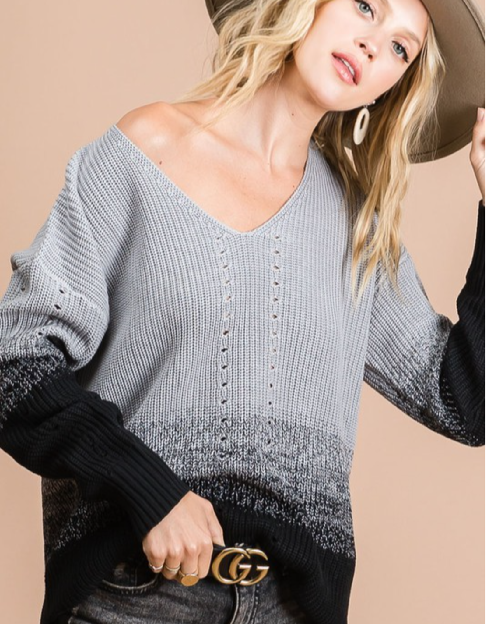 Madison Two Tone Sweater