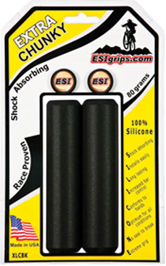 ESI ESI 34mm Extra Chunky Silicone Grips: Black