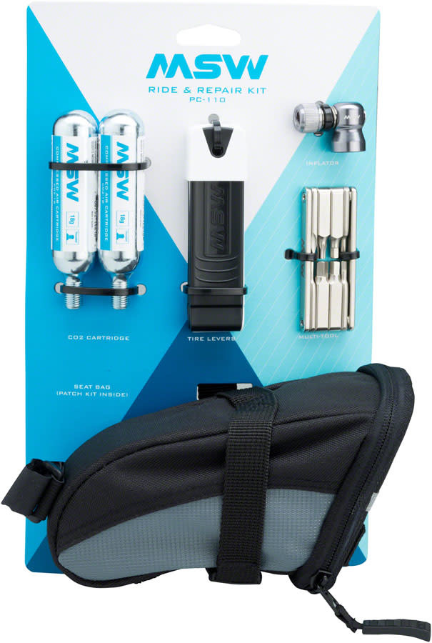 MSW MSW Ride and Repair Kit with Seatbag and CO2