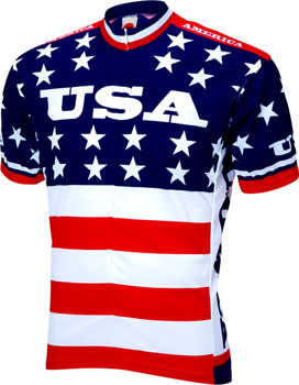 World Jerseys World Jerseys Team USA 1979 Retro Cycling Men's Jersey