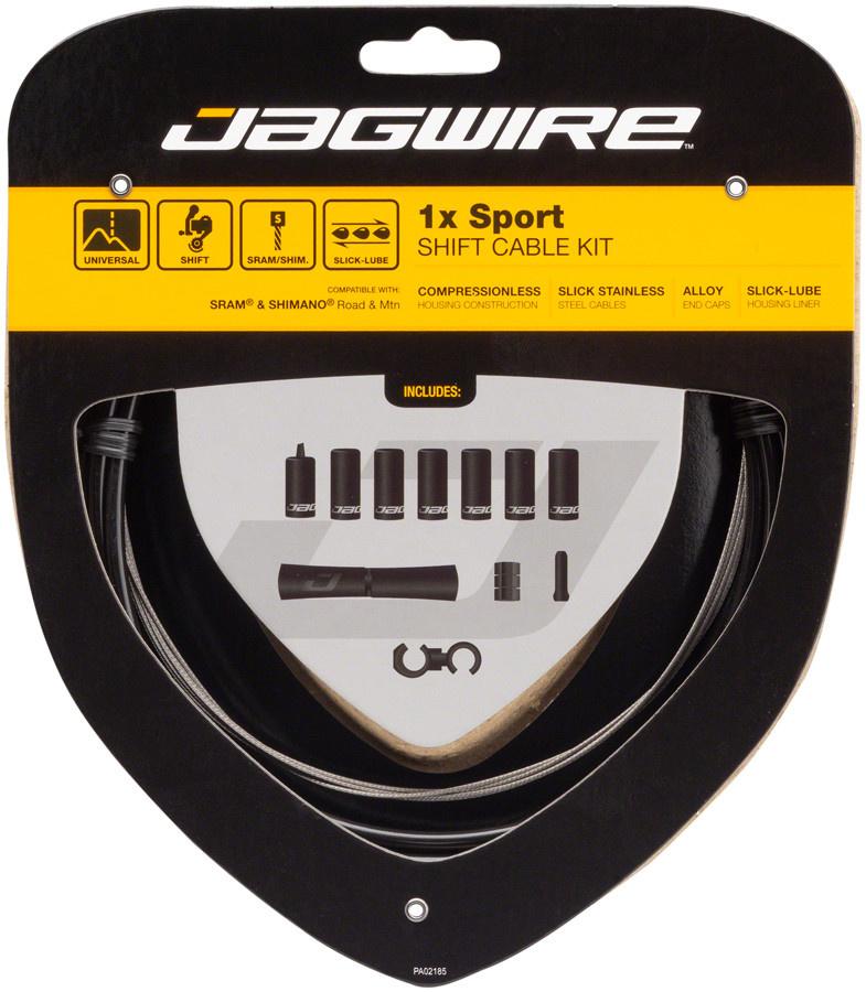 Jagwire Jagwire 1x Sport Shift Cable Kit SRAM/Shimano, Black
