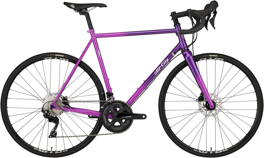 All-City All-City Zig Zag Bike - 700c, Steel, Purple Fade, 52cm