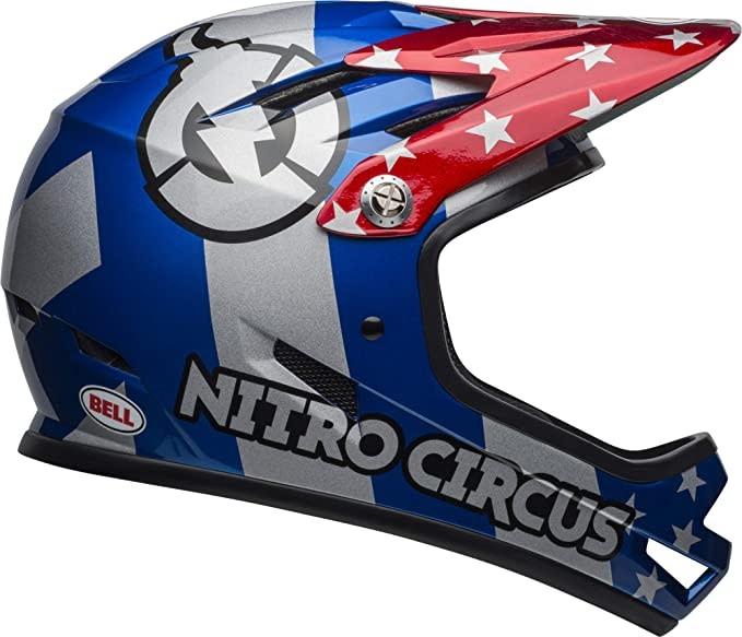 Bell Bike Bell Sanction Adult Full Face Bike Helmet RED/SLV/BLU NITRO XS