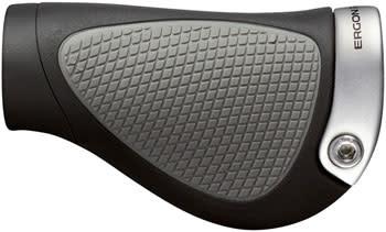 Ergon Ergon GP1 Grips - Black/Gray, Lock-On, Gripshift, Small