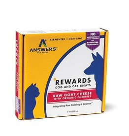 Answers Answers goat milk cheese treat w/ cherries 8oz