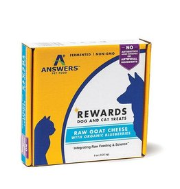 Answers Answers goat's milk cheese treat w/ blueberries 8oz