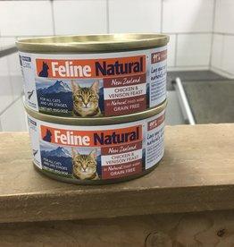 Feline Natural Feline Natural chicken & Venison can 3oz