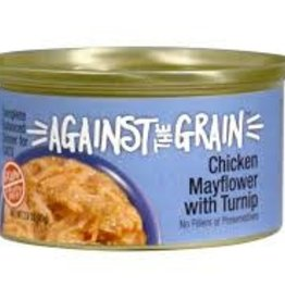 Against The Grain Cat Can Chicken Mayflower with Turnip 2.8oz Case of 24