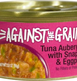 Against The Grain Cat Can Tuna Aubergine with Snapper and Eggplant 2.8oz Case of 24