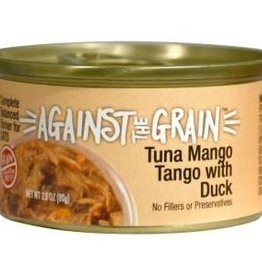 Against The Grain Cat Can Tuna Mango Tango with Duck 2.8oz Case of 24