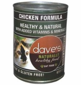 Daves Daves Naturally Healthy Chicken Cat Can 12.5oz case