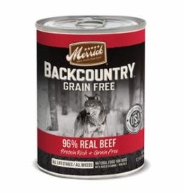 Merrick Merrick Backcountry Beef Pate Dog Can 12.7oz