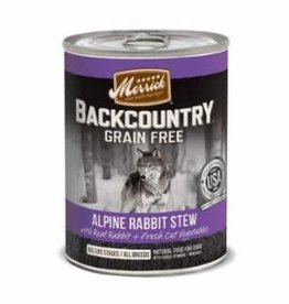 Merrick Merrick Backcountry Alpine Rabbit Stew Dog Can 12.7oz