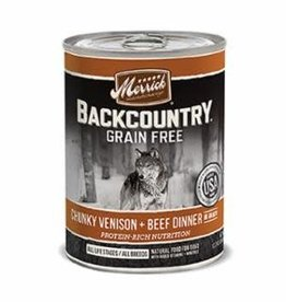 Merrick Merrick Backcountry Chunky Venison and Beef Dog Can 12.7oz