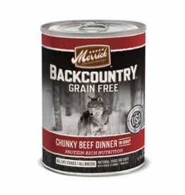Merrick Merrick Backcountry Chunky Beef Dog Can 12.7oz